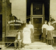 Berlin Bakery, Davenport, date unknown. Image courtesy of the German American Heritage Center, Davenport, Iowa.