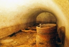 Beer cave underneath the former Union Brewery of Iowa City (now Brewery Square, Linn and Market St.). Photographer: Charles Scott. See the Little Village article from 2013 on Iowa City's extensive network of beer caves, ice caves, tunnels, and more. Image courtesy of the State Historical Society of Iowa, Iowa City.