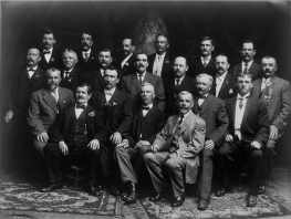 Swabian Men's Choir (Schwäbischer Männerchor) of Burlington, Iowa, c. 1910. The region of Swabia is located in southwest Germany, now part of the German federal state of Baden-Württemberg. Image courtesy of the State Historical Society of Iowa, Iowa City.